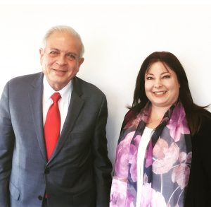 Rosy Palomino and Miami Mayor Tomas Regalado