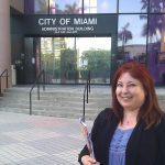 Rosy at Miami Admin Bdlg