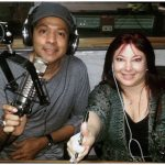 Rosy and the Yankee's Rey Negron during a Miami After Dark radio show